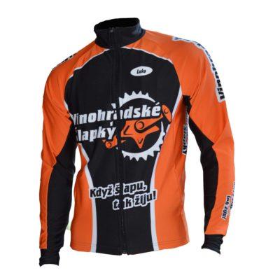 zimní bunda cyklotým Vinohradske slapky