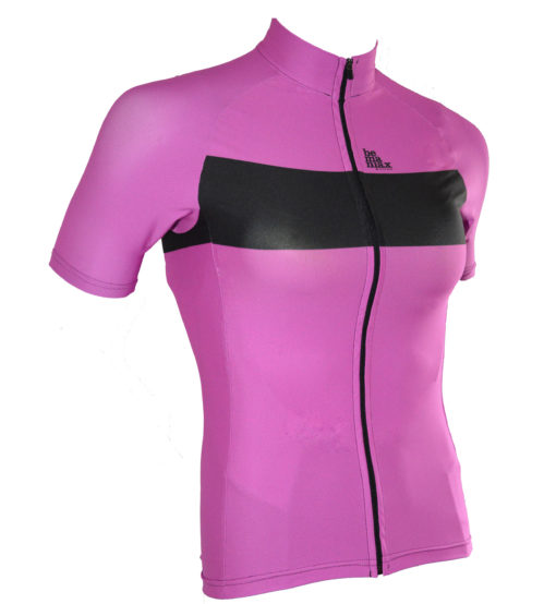 lady cycling jerzeys in berry colour