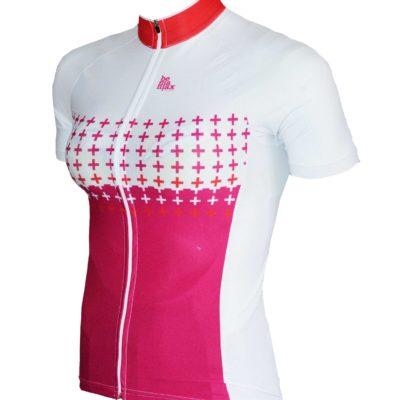 bílo růžový dámský dres